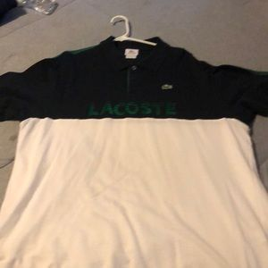 Short sleeve collared Lacoste shirt